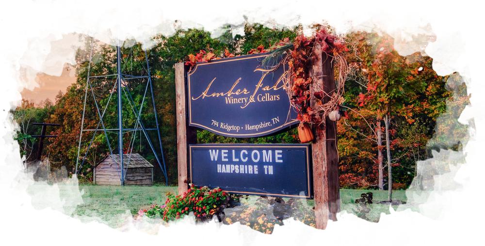 Amber Falls Sign